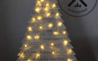 diy pallet wood christmas tree, pallet