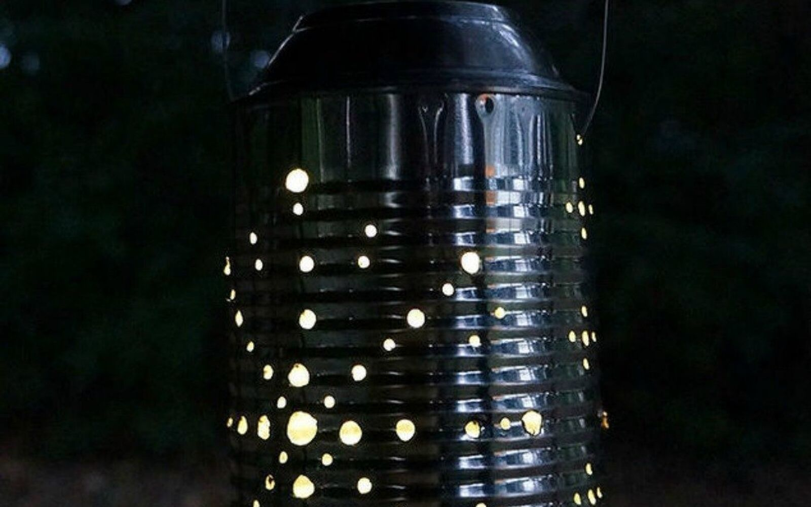 s be the best hostess on the block with these 16 home hacks, home decor, Use tin cans for awesome solar lighting