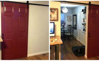 sliding faux barn door, doors, outdoor living
