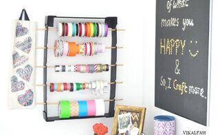 diy ribbon organizer under 3, crafts, organizing