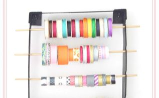 diy ribbon organizer under 3, crafts, organizing