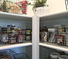 an organized pantry, closet, organizing