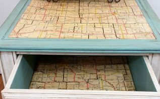 give new life to an old table with a map, painted furniture