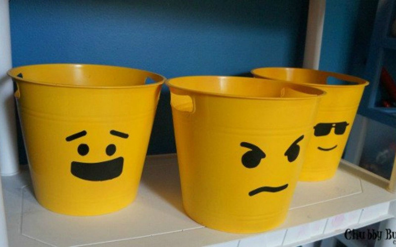 s you need to try these dollar store bucket ideas, Turn them into customized Lego containers