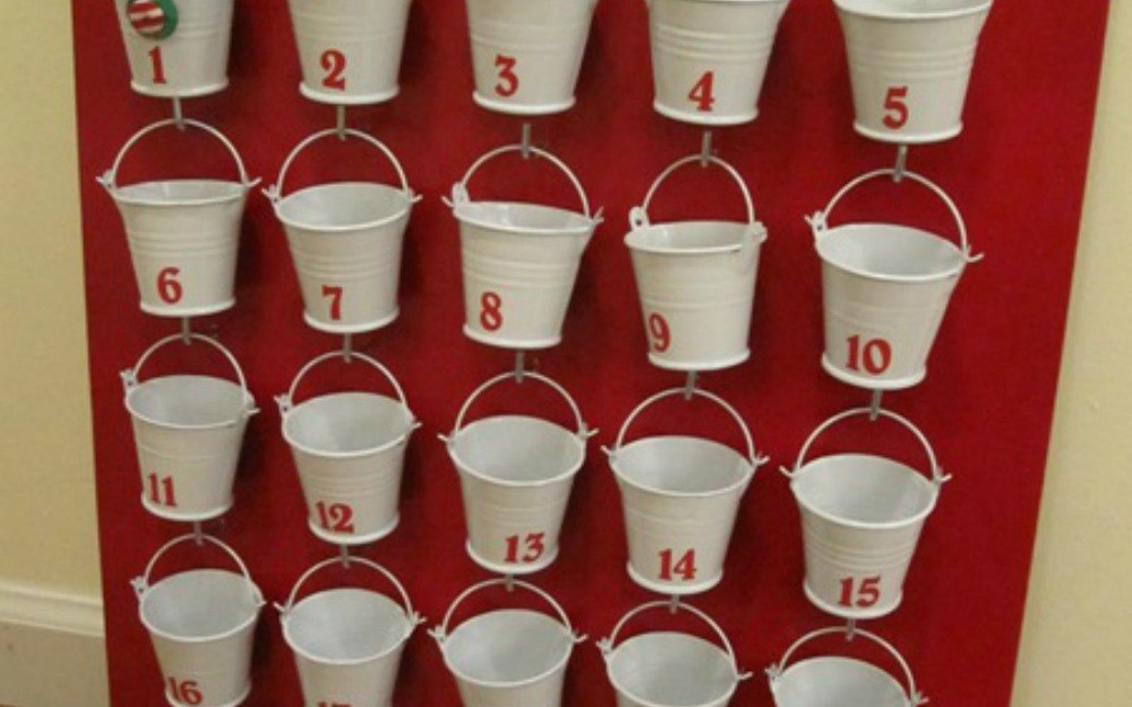 s you need to try these dollar store bucket ideas, Gather them into an adorable advent calendar