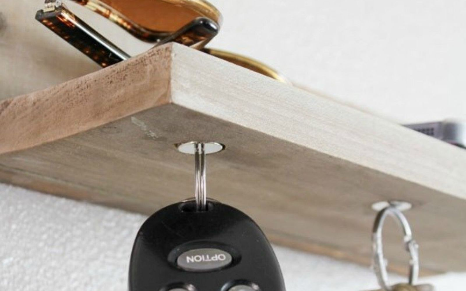 s hold onto your magnets for these 16 ingenious ideas, Attach them to a wood shelf to store keys