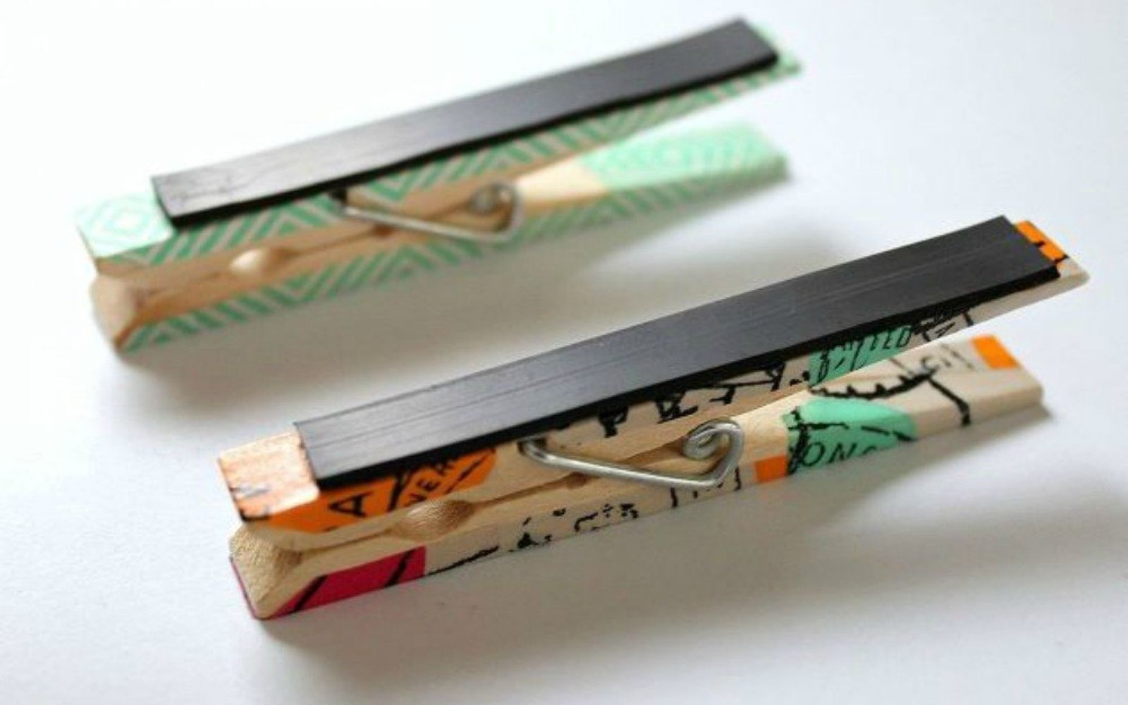 s hold onto your magnets for these 16 ingenious ideas, Stick them to the back of clothespins