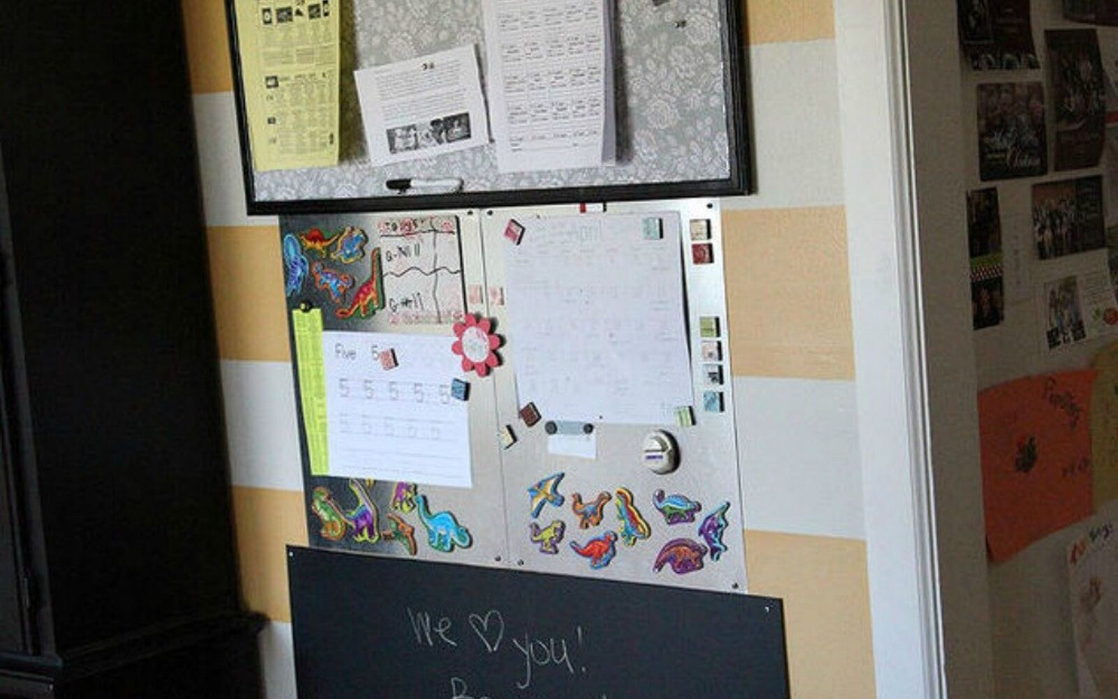 s hold onto your magnets for these 16 ingenious ideas, Adhere them to the walls as a command center