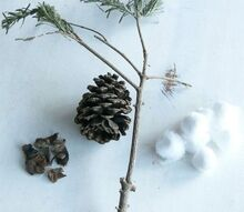 diy farmhouse cotton stems
