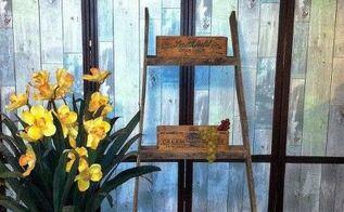 country ladder shelf, shelving ideas
