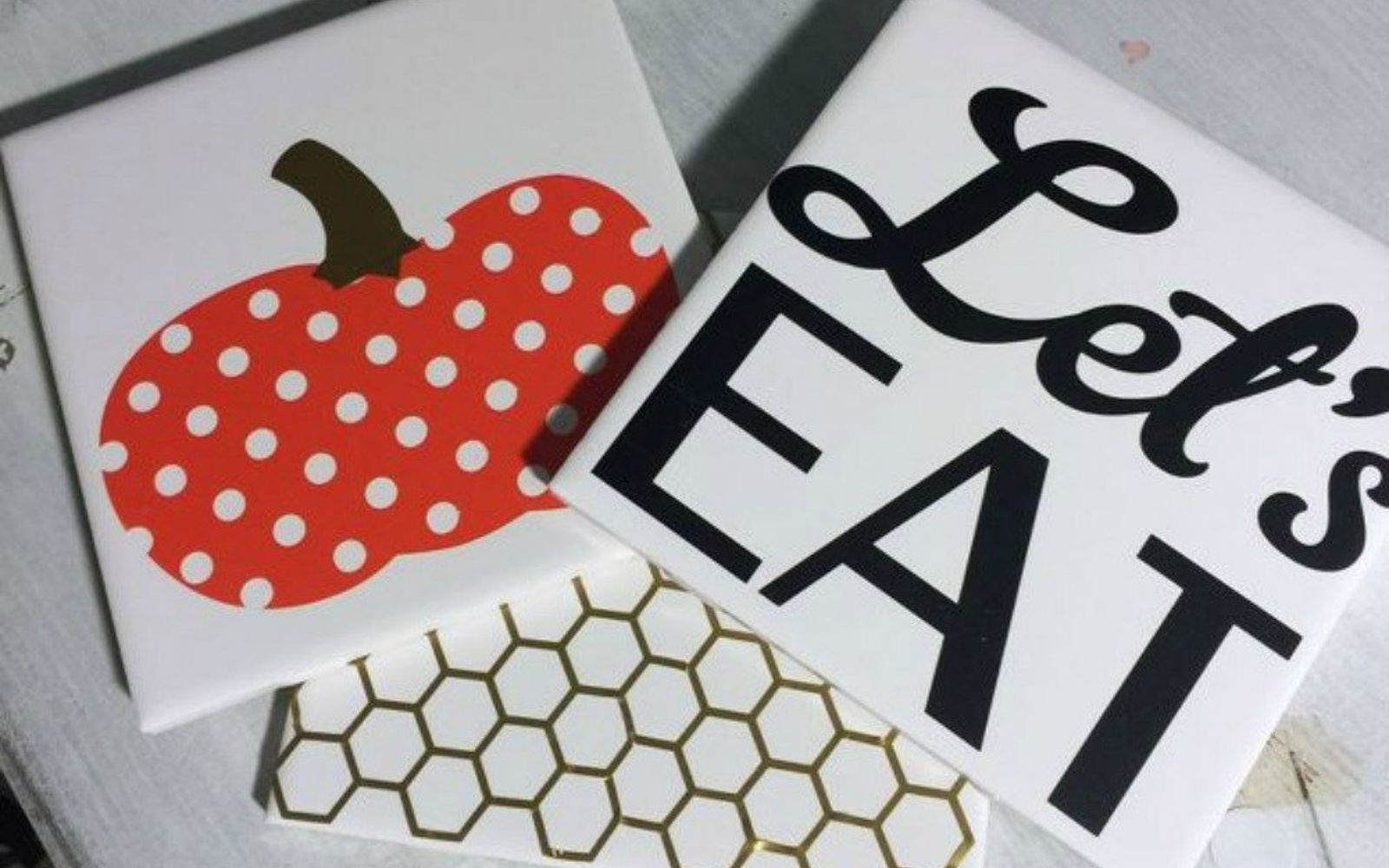 s x ways you never thought of using tile in your home, home decor, As the cute food trivets on your dinner table