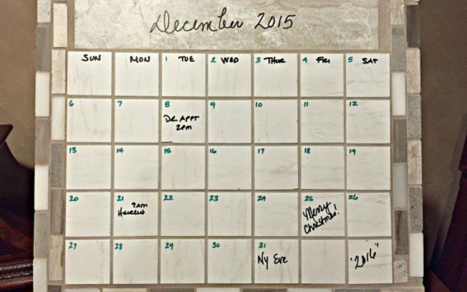 s x ways you never thought of using tile in your home, home decor, As the coolest reusable calendar