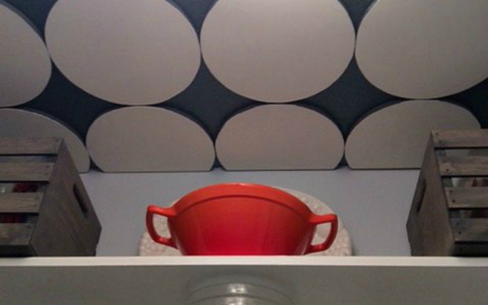 s x ways you never thought of using tile in your home, home decor, As the medallion decor in your pantry