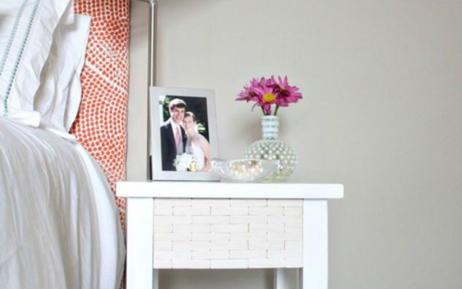 s x ways you never thought of using tile in your home, home decor, As the swankiest nightstand in your bedroom