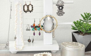 an easy wooden jewelry organizer, organizing