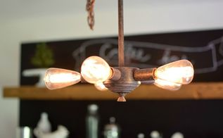 dining room light fixture makeover