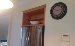 q shelf above refrigerator, appliances, shelving ideas
