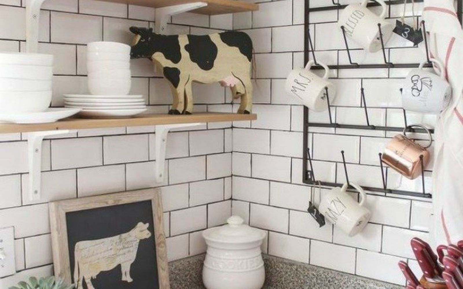 s 15 clever ways to add more kitchen storage space with open shelves, kitchen design, shelving ideas, storage ideas, Turn it into a coffee corner