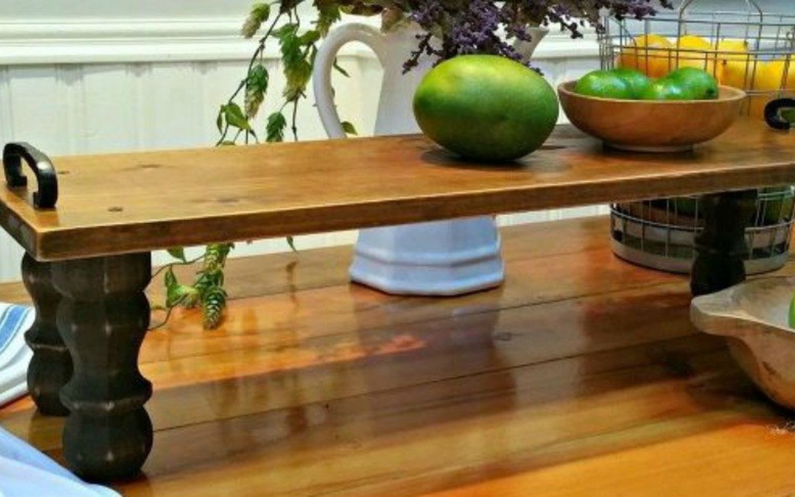s decorate your living room for under 10 with these 15 ideas, Create a farmhouse tray from reclaimed wood