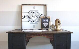 a rustic black desk, painted furniture