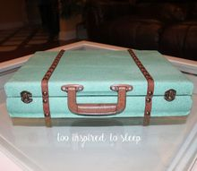 vintage luggage from a flatware storage chest, painted furniture, storage ideas