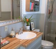1965 bathroom vanity into modern shaker style, bathroom ideas, from another angle