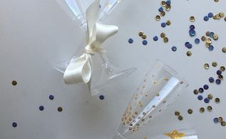 how to dress up a plastic party champagne glasses, how to