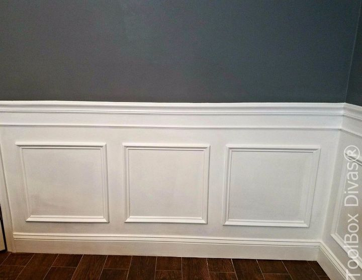 install picture frame moulding budget friendly wainscoting wall decor woodworking projects