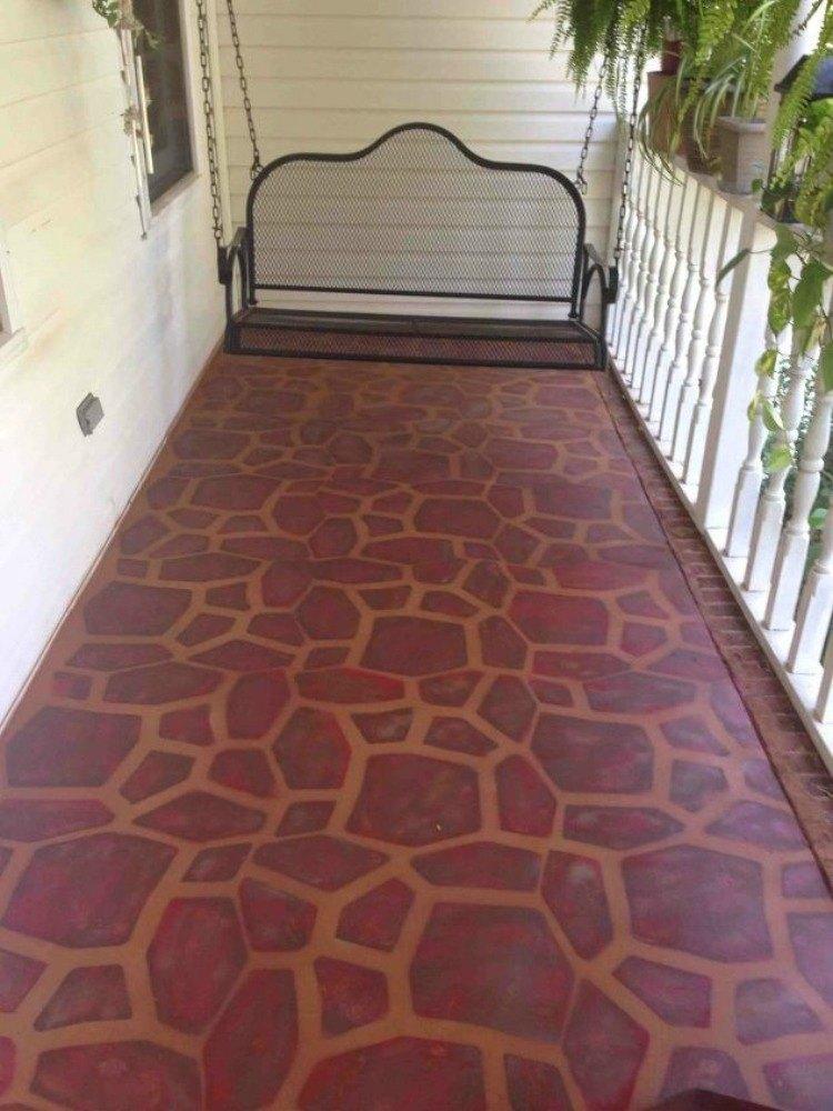 13 shocking ways to transform your concrete floor hometalk for Concrete block floor