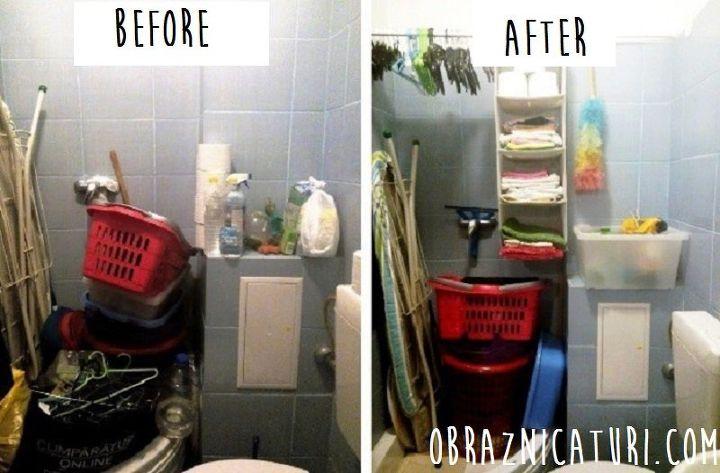 My 25 Makeover A Messy Bathroom Turns Into A Closet Hometalk