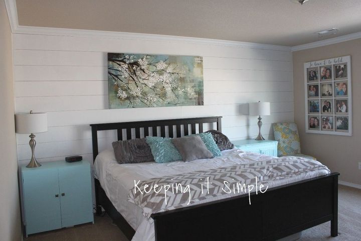 shiplap wall in the master bedroom for less than 100  bedroom ideas. Shiplap Wall in the Master Bedroom for Less Than  100   Hometalk