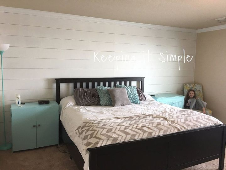 shiplap wall in the master bedroom for less than 100 bedroom ideas