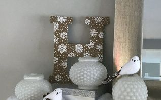 bright idea for winter decor, home decor