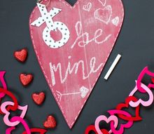 diy valentine s day chalkboard, chalkboard paint, crafts, seasonal holiday decor, valentines day ideas