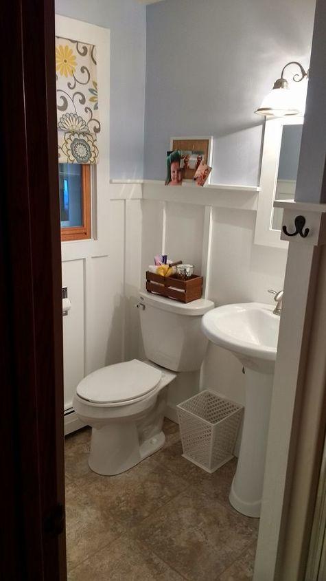 board and batten bathroom hometalk. Black Bedroom Furniture Sets. Home Design Ideas