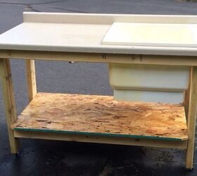 Repurposed Plastic Laundry Tub To Potting Table Fish Cleaning Table  Bathroom Ideas Cleaning Tips