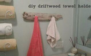 coastal bathroom driftwood towel holder, bathroom ideas