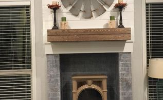 ugly fireplace makeover, fireplaces mantels