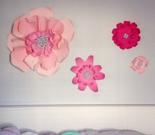 large paper wall flowers, gardening