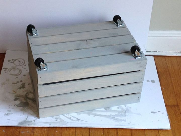 Next time you re at michaels grab a wooden crate and make for Re storage crate