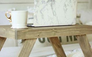 diy bed desk, painted furniture