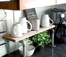 double your space with a 10 minute farmhouse styled pipe shelf, plumbing, shelving ideas