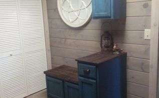 storage room turned into mudroom, foyer, storage ideas