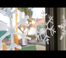 t tip winter decor with hot glue other ways to make a snowflake, crafts, home decor