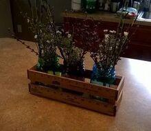 yardstick crate for mason jars, mason jars