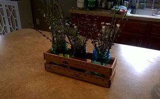 yardstick crate for mason jars, mason jars