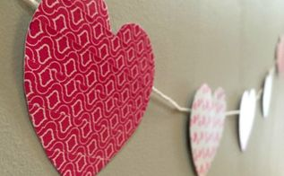 easy washi tape valentine s banner, seasonal holiday decor, valentines day ideas