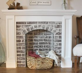 if you re going to make it better fake it diy faux brick fireplace concrete woodshop diaries - Fake Fireplaces