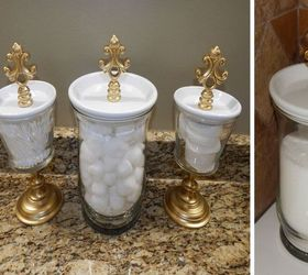 Diy Bathroom Canisters And Jewelry Holder Set Bathroom Ideas