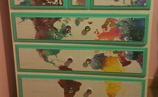 diy poster dresser, painted furniture